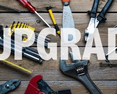 Upgrade text over construction tools