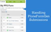 Handling PFG submissions