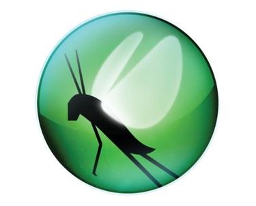 Locust logo with green background