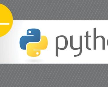 Python logo on gray background