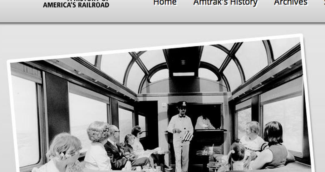 Amtrak's History Website Undergoes Facelift