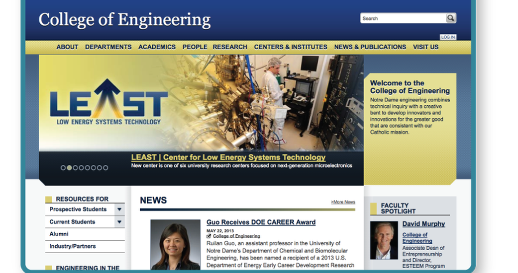 College of Engineering at Notre Dame Strengthens Content Syndication