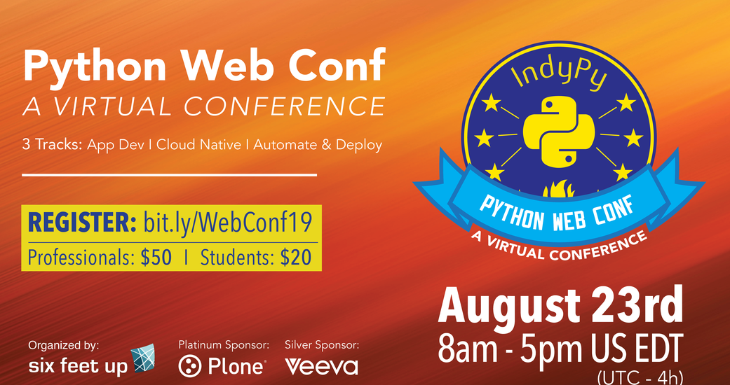Six Feet Up Holds Python Web Conf on August 23rd, 2019