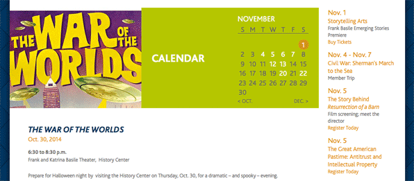 IHS Event Calendar view