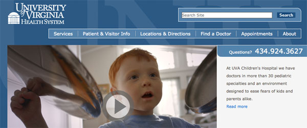 UVa Health Homepage