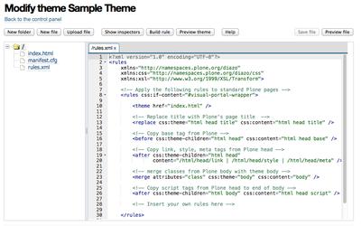 modify theme sample