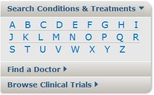 Homepage Search Conditions and Treatments